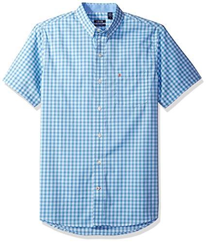 Mens Non Iron - IZOD Men's Advantage Performance Non Iron Stretch Short Sleeve Shirt, Heritage Blue, Large