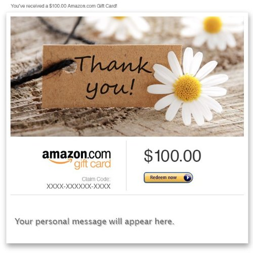 Amazon eGift Card - Thank You (Daisies)