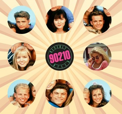 Beverly Hills 90210 Set of 9 - 1 Inch Pinback Buttons