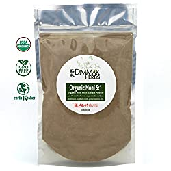 Organic Noni Fruit 5:1 Extract Powder (4oz112g) | Morinda Citrifolia Whole Noni Fruit Nutraceutical Grade Powder Bulk