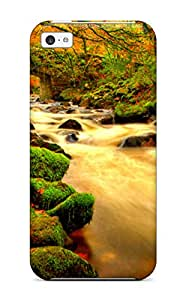 For Iphone Case, High Quality Flowing Water Under The Bridge For Iphone 5c Cover Cases