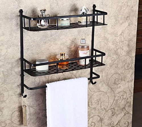 Rozin Oil Rubbed Bronze Bathroom Storage Holder Dual Tier Cosmetic Shelf With Ebay