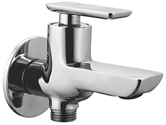 Oleanna Golf Brass 2 in 1 Bib Cock Water Taps for Bathroom (Chrome Finish)
