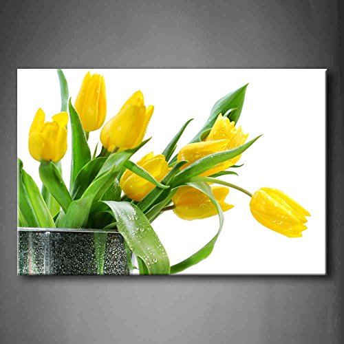 Yellow Tulip Canvs Wall Art Painting - Ready to Hang