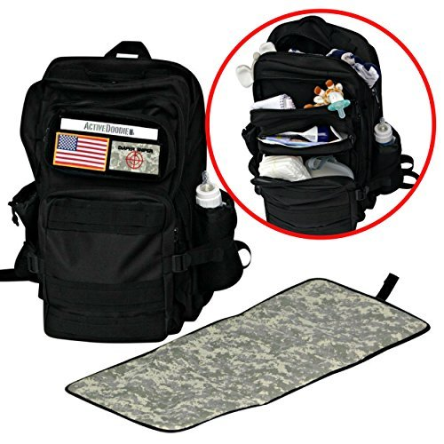 men 39 s diaper backpack bag changing pad combo by active doodie. Black Bedroom Furniture Sets. Home Design Ideas