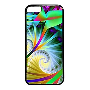 Abstract Design PC Black Case for Iphone 6 Bright Caolors
