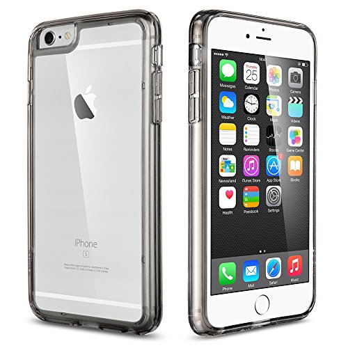 iPhone 6s Plus Case, iPhone 6 Plus Case ULAK Shock-Absorption Bumper Cover Anti-Scratch Clear Back Case for Apple iPhone 6s Plus and iPhone 6 Plus Crystal Smoke Grey - Gray Smoke Crystal