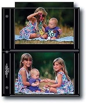 Pack of 25. Print File BLK55-4M Holds Four 5x5 Prints Premium Black Background M-Series Album Pages