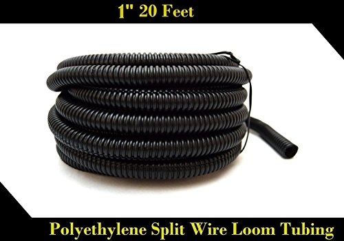 Wire Loom Black 20' Feet 1