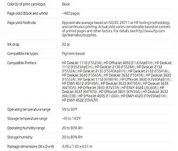 Hp 63xl Black High Yield Original Ink Cartridge (F6u64an) For Hp Deskjet 1112, 2130, 2132, 3630, 3631, 3632, 3633, 3634, 3636, 3637, Hp Envy 4511, 4512, 4516, 4520, 4521, 4522, 4524, Hp Officejet 3830, 3831, 3832, 3833, 4650, 4652, 4654, 4655 11