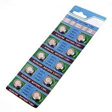 Batteries-SODIAL(R) Set of 10 Batteries AG13 LR44 G13-A D303 L1154 L1154F EPX76 A76 RW82 357 SR44 alkaline