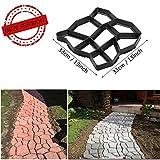 cheap patio stones VIPITH New Upgrade Version 13 x 13 inch DIY Walk Maker Concrete Stepping Stone Mold Reusable Patio Path Mold Maker Garden Lawn Paving Stone Mold