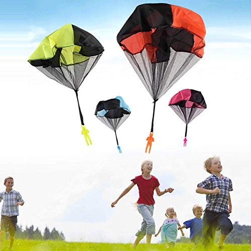 Parachute Toys - 8 Pcs Parachute Army Men + 8 Pcs Parachute Tangle Free Throwing Parachute with Launcher Flying Toys Soldier Skydiver Hand Throw Sports & Outdoor Play Toys for Kids Gifts Party Favor by Dreamfun (Image #6)