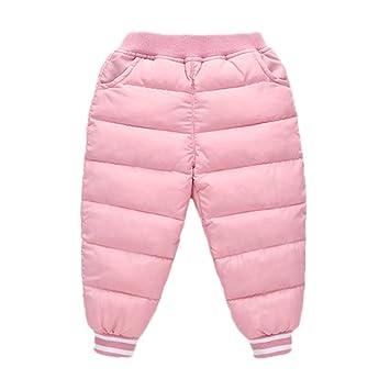feiXIANG Ropa Infantil bebé niña niño Color sólido Engrosamiento Delgado  cálido Pantalones Pantalones Invierno cálido Pantalones Pantalones   Amazon.es  ... 927e16b1c73