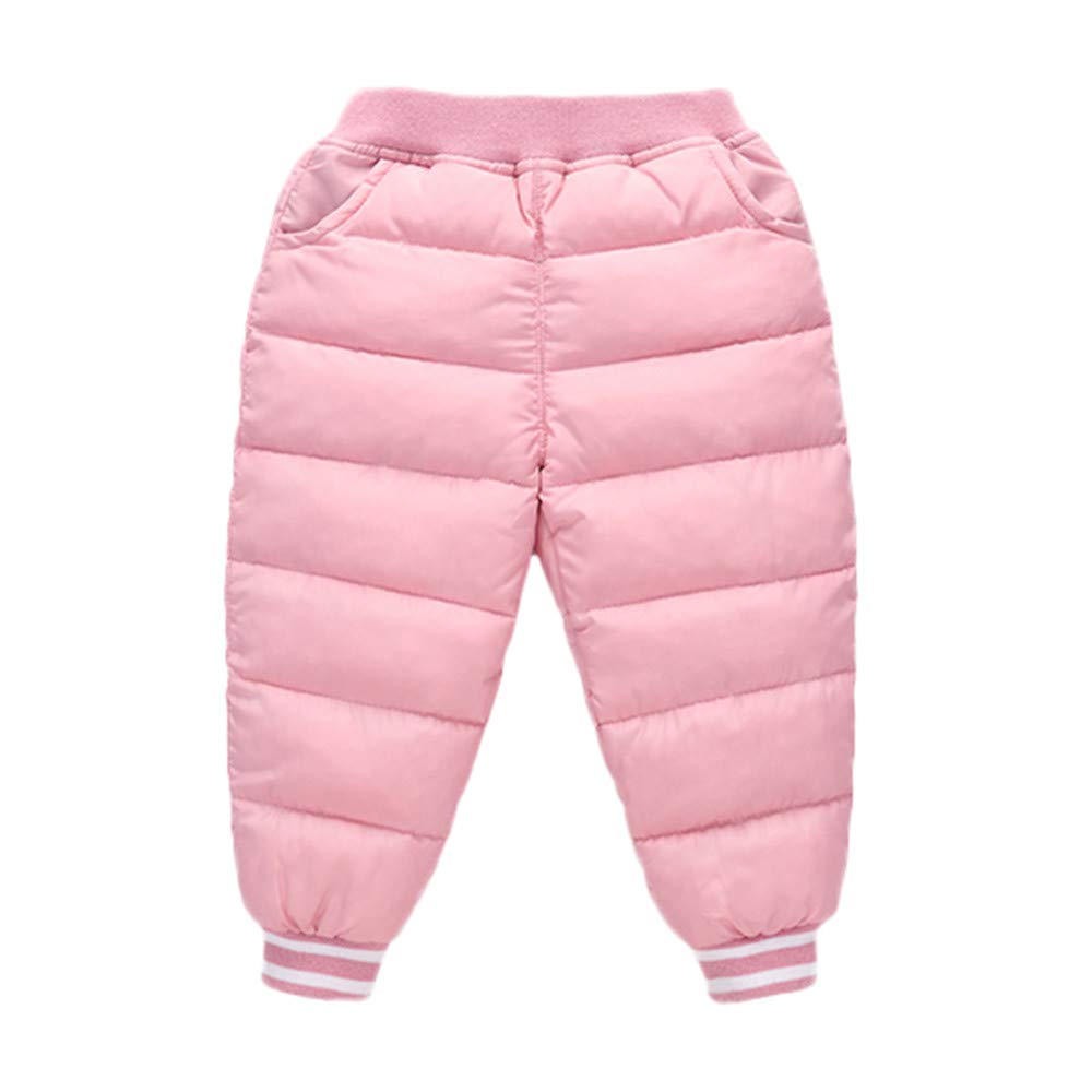 Baby Girls Boys Line Pattern Warm Pants Set Kid Solid Winter Thick Pants Outwear Long Trousers