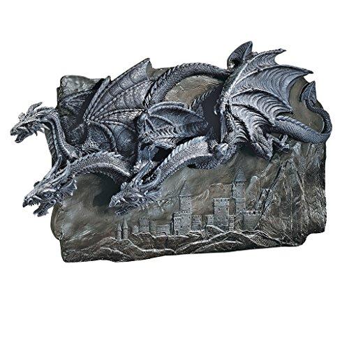 Design Toscano Morgoth Castle Dragons Wall Sculpture (Wall Sculpture Dragon)