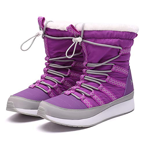 (Eureka USA Snow Boot for Men and Women Aspen Winter Boot Lavender)