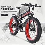 519qhe7ZJAL. SS150 Drohneks Bicicletta elettrica, Bici da Neve Fat Tire 26 Pollici Moto eBike 1000w 48v Bicicletta Pieghevole elettrica…