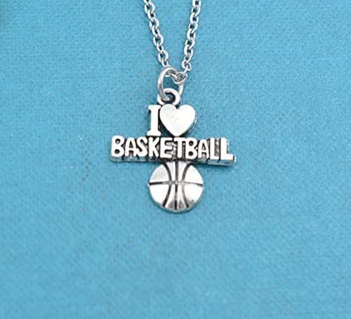 Amazon.com: Little Girls I love Basketball necklace in