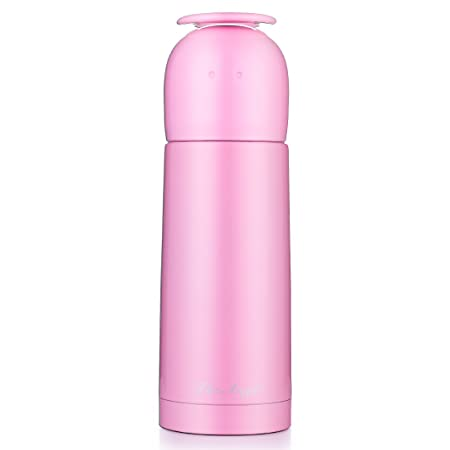 5b3b75c3474 JIAQI Double Walled Vacuum Insulated Water Bottle with Drinking Cup Lid -  350 ml/12 oz Stainless Steel Coffee Flask Thermal Travel Mug ...