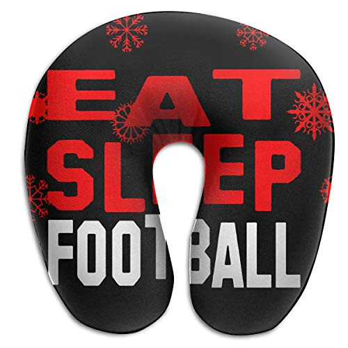 Football Shaped Car Flag - ZHENQ94 American Flag Eat Sleep Football U-Shaped Neck Pillow Reading Supports The Head at Home