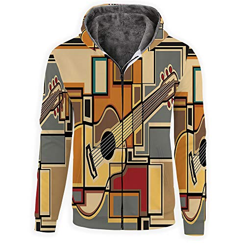 MOOCOM Music Decor Men's Polyester Full-Zip Athletic for sale  Delivered anywhere in USA