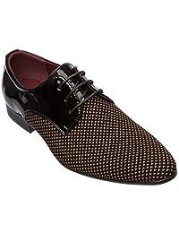 Alberto Fellini Mens oxfords-shoes Lace Up Derby Blucher Dress Shoes