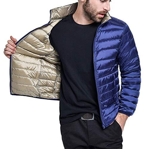 Men's Down Jacket Double Side + Urtra Light Collar Stand Streetwear + Warm Quilted Jacket Boys Jacket Parka Winter Jacket Winter Coat Autumn Winter Jacket Coat Navyblue
