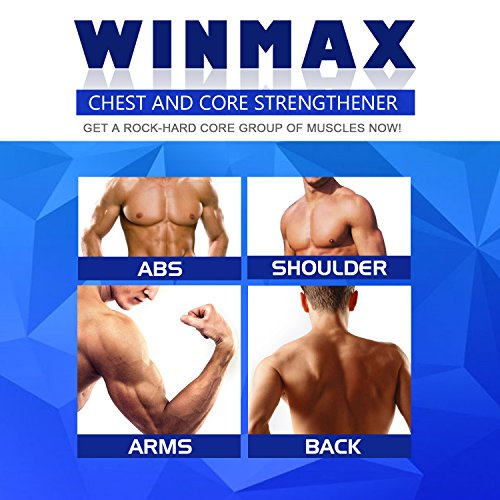 WINMAX Chest Expander and Core Strengthener Adjustable Weight Resistance Core Strengthening 5 Latex/Rubber Resistance Rope/Tubes with Safe Cover