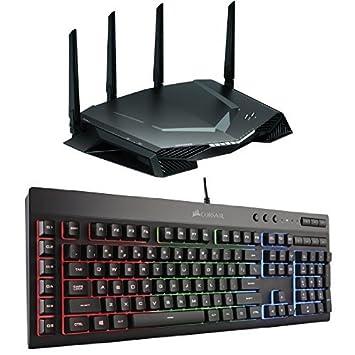 NETGEAR Nighthawk Pro Gaming WiFi Router (XR500) with CORSAIR K55 RGB  Gaming Keyboard Bundle
