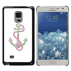 rígido protector delgado Shell Prima Delgada Casa Carcasa Funda Case Bandera Cover Armor para Samsung Galaxy Mega 5.8 9150 9152 -Anchor Pink Chain Colorful Positive Art-