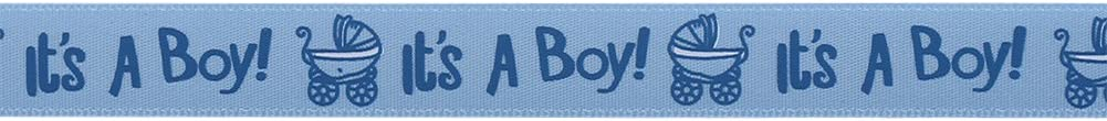 Blue 10Yards//Roll IT is A BOY//Girl Blue Pink Baby Shower Christening Party Favor Gift Stain Ribbon