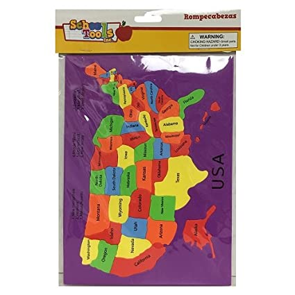 Amazon.com: America The Beautiful United States Map Puzzle: Toys & Games