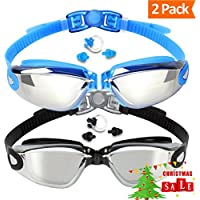 Swim Goggles (2 Pack or 1 Pack), EVERSPORT Swimming...