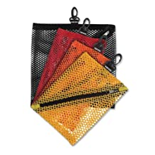 Vaultz Mesh Storage Bags, Assorted Colors and Sizes, 4 Bags (intvz03082)