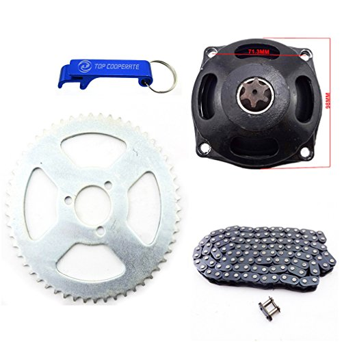 Motor Sprocket Tooth (TC-Motor T8F 116 Links Chain + T8F 6 Tooth Gear Box + 54T Rear Chain Sprocket For 47cc 49cc Mini Pocket Bike Mini Moto)