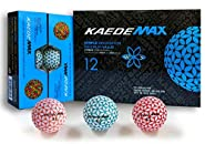 Kaede Max 2 Tone Colored Distance Golf Balls (One Dozen)