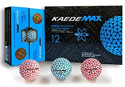 Kaede Max 2 Tone Colored Distance Golf Balls (One Dozen)