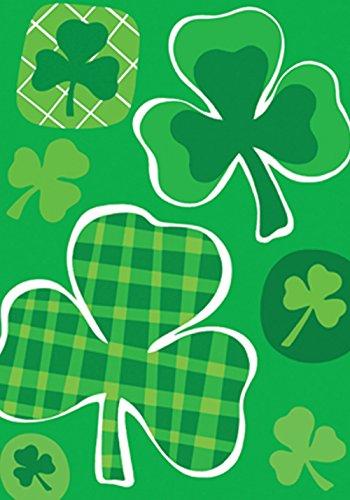- Toland Home Garden Lucky Clovers 28 x 40 Inch Decorative St Patrick's Day Green Shamrock Clover House Flag