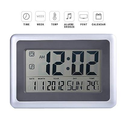Amazon Com Forestime Full Digital Wall Clock With Calendar