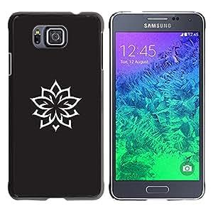For Samsung GALAXY ALPHA G850 Case , Ink Tattoo Minimalist Black White - Diseño Patrón Teléfono Caso Cubierta Case Bumper Duro Protección Case Cover Funda