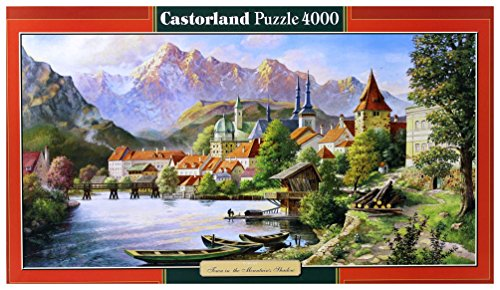 Copy of Town in the Mountain's Shadow, 4000 Piece By Castorland Puzzles