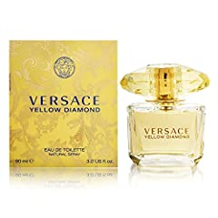 Versace Diamond Eau De Toilette Spray, Yellow, 3 Ounce. A perfume which enchants with its Mediterranean refinement of sparkling Bergamot, Citron of Diamante, and noble Neroli, with the captivating addition of irresistible and attractive accen...