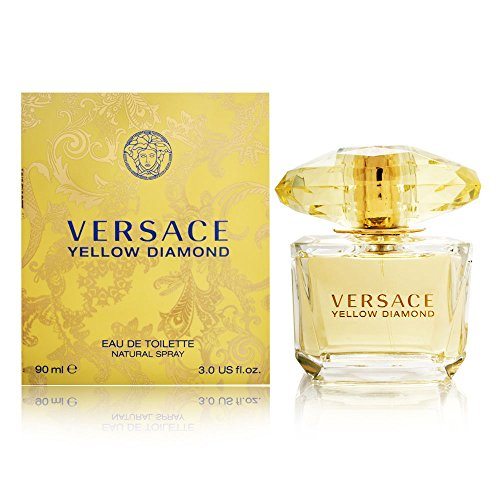 - Versace Diamond Eau De Toilette Spray, Yellow, 3 Ounce