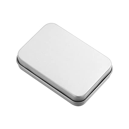 Home Storage Solutions Small Multipurpose Jewelry Coin Candy Keys Metal Storage Box Tin Empty Case
