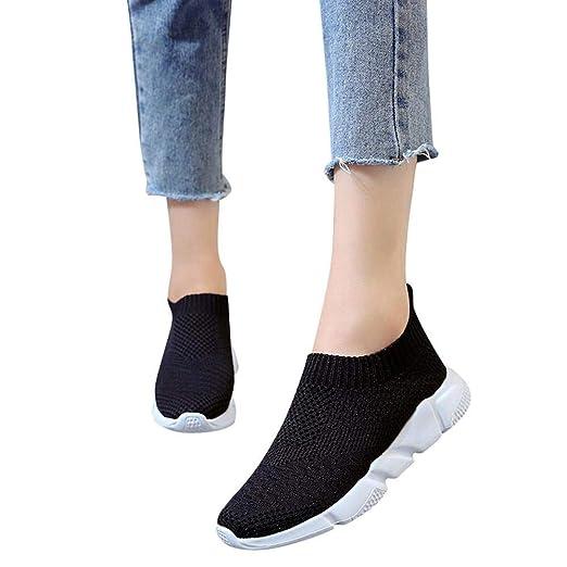 fd14bd95c4bfb Amazon.com: Oliviavan Women's Running Sports Shoes Outdoor Mesh ...