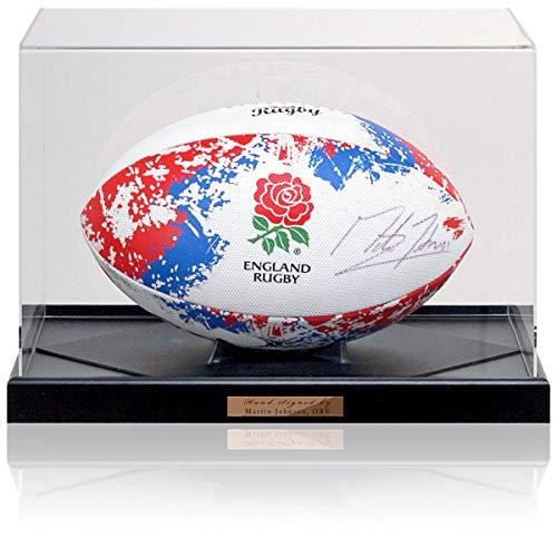 Martin Johnson OBE - Balón de Rugby de Inglaterra Firmado a Mano ...