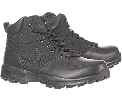 NIKE Men's Manoa Black/Black/Black Boot 9 Men US by NIKE