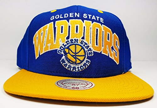 Arch Logo Hat - Mitchell & Ness Golden State Warriors Blue Vintage Arch Logo Adjustable Hat Cap NBA