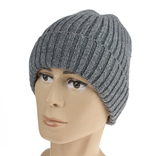 b1a33be8080 Timo Lee-Winter Slouchy Knit Hat Wool Beanie Fleece Lined Stretchy Ski  Skull Cap Grey - Buy Online in Oman.